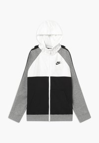 Nike Sportswear - HYBRID - Bluza rozpinana - white/black/grey - 0