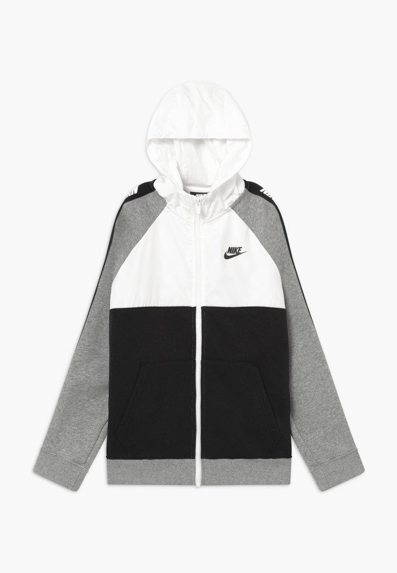 Nike Sportswear - HYBRID - Hoodie met rits - white/black/grey