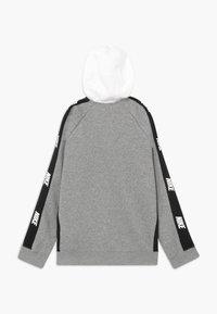 Nike Sportswear - HYBRID - Hoodie met rits - white/black/grey - 1