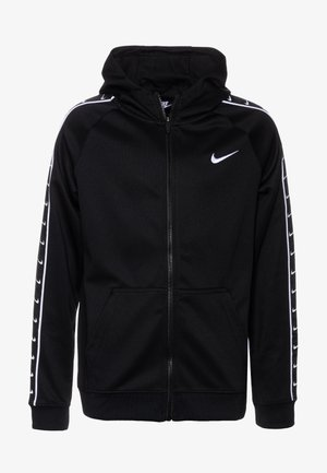 HOODY TAPE - veste en sweat zippée - black/white