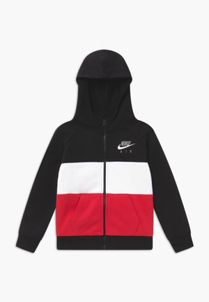 veste en sweat zippée - black/university red