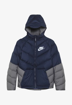 Winter jacket - midnight navy/gunsmoke/white