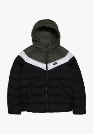 JACKET FILLED - Winter jacket - black/medium olive/white