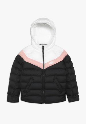 JACKET FILLED - Winter jacket - black/white/bleached coral