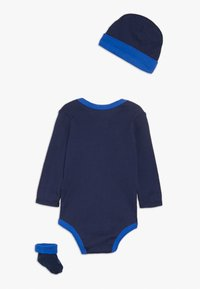 Nike Sportswear - FUTURA LOGO LONG SLEEVE HAT BOOTIE BABY SET - Bonnet - midnight navy - 1