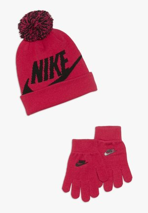 POM BEANIE GLOVE SET - Fingervantar - rush pink