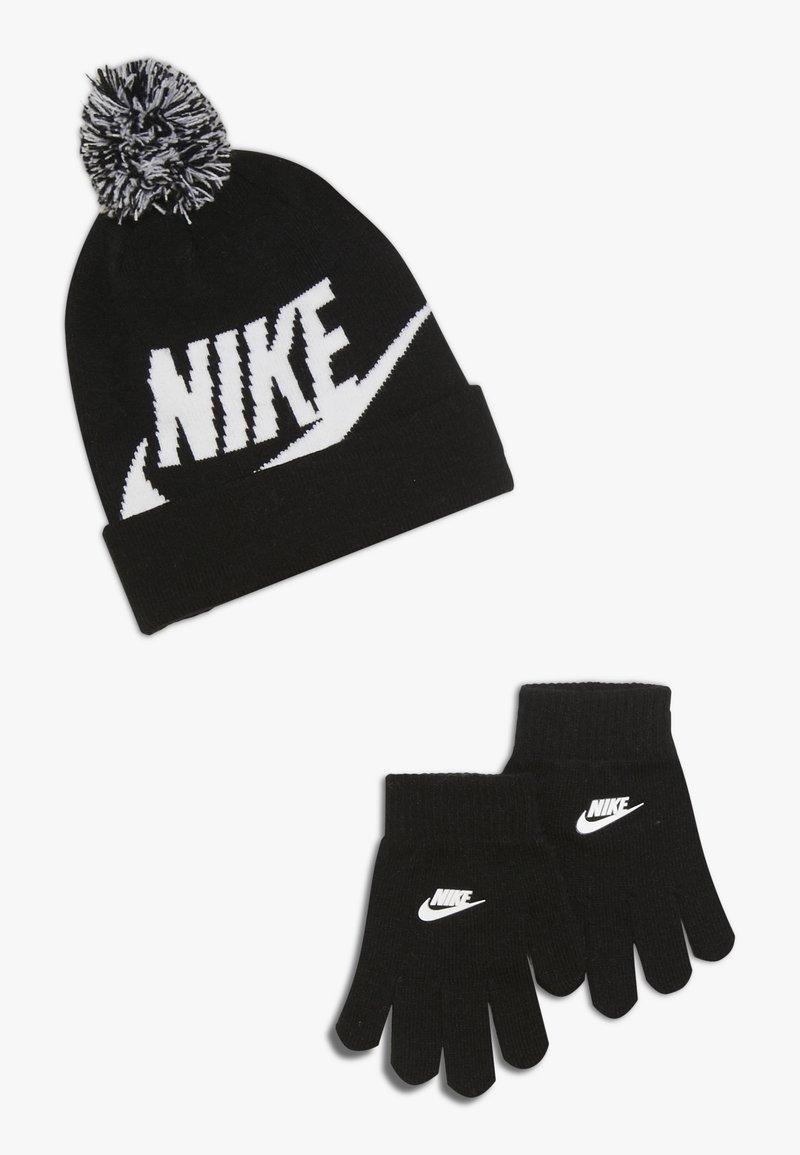Nike Sportswear - POMBEANIEGLOVESET - Guanti - black