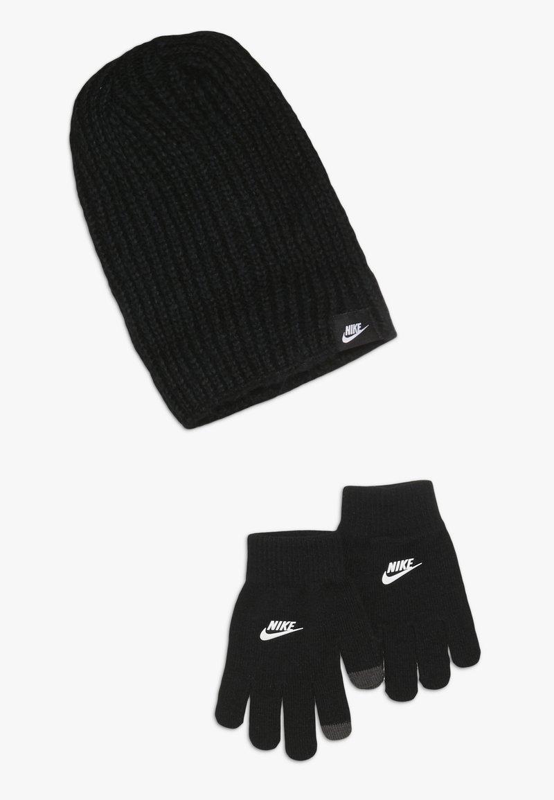Nike Sportswear - FUTURA BRUSHED BEANIE SET - Muts - black