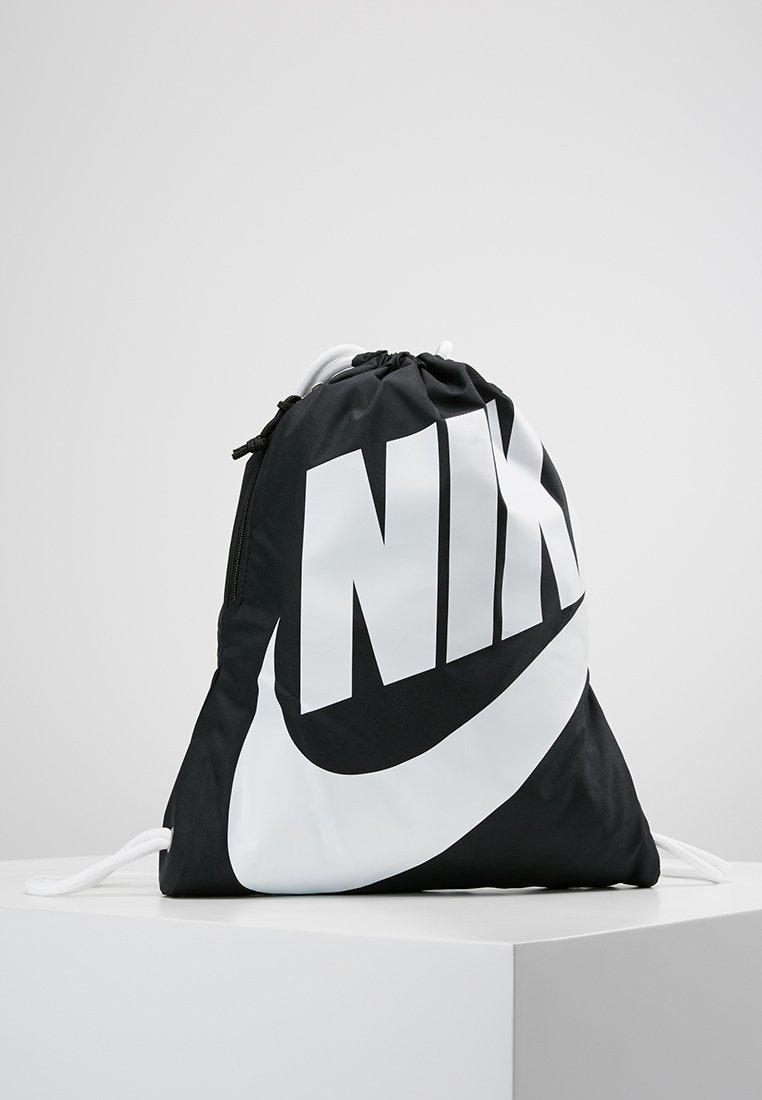 Nike Sportswear - HERITAGE GYMSACK - Rugzak - black/white