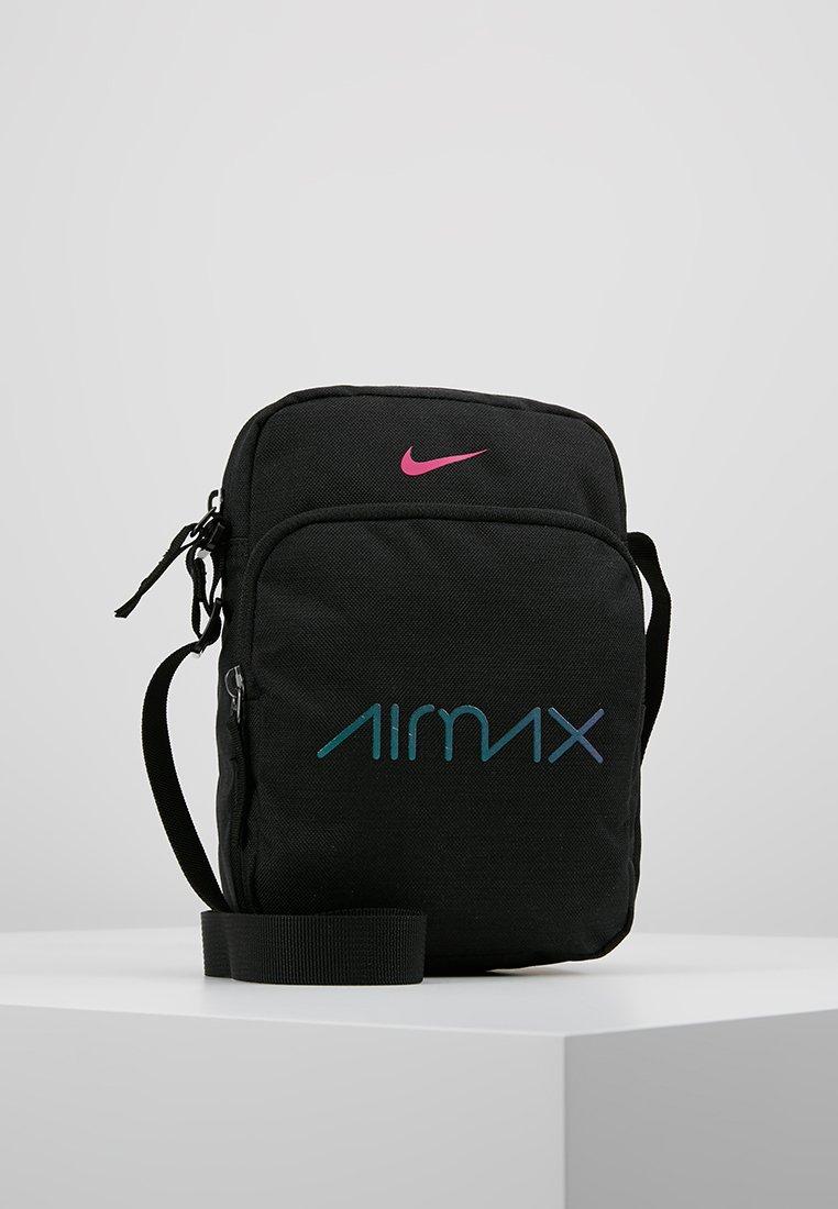 Nike Sportswear - HERITAGE SMIT AIRMAX DAY - Umhängetasche - black/laser fuchsia