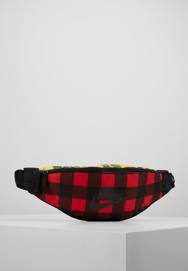 Nike Sportswear - HERITAGE HIP PACK PLAID - Riñonera - black/gunsmoke