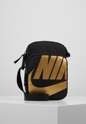 HERITAGE SMIT - Across body bag - black/metallic gold