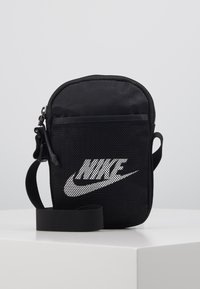 Nike Sportswear - NIKE HERITAGE - Borsa a tracolla - black/black/white - 0
