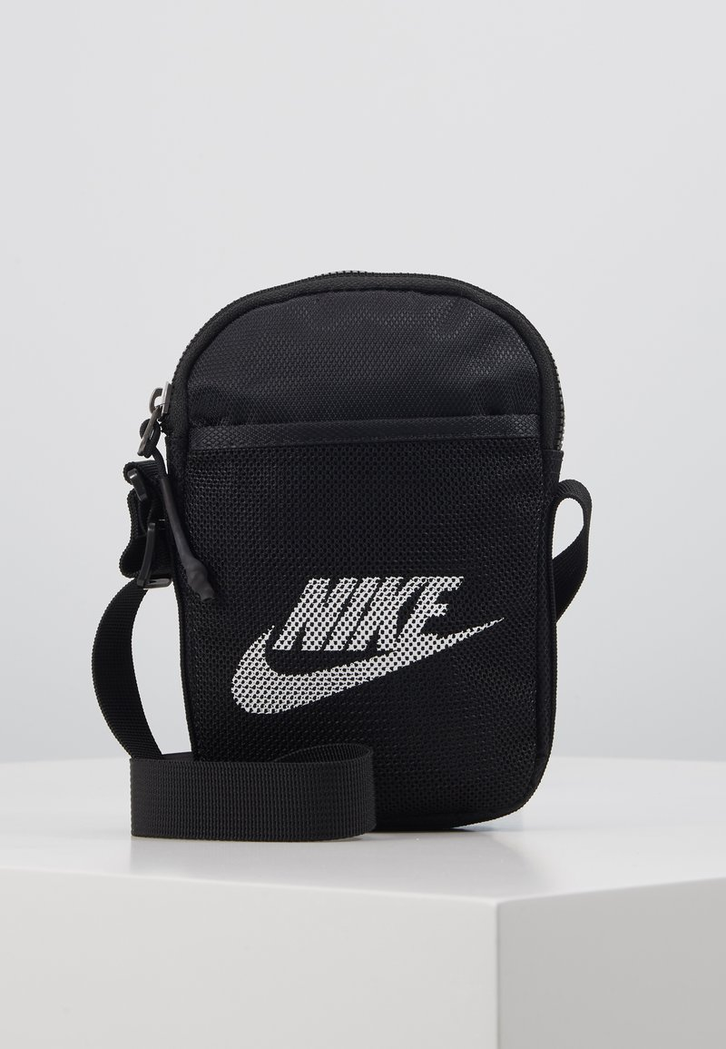 Nike Sportswear - NIKE HERITAGE - Borsa a tracolla - black/black/white