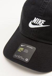 Nike Sportswear - FUTURA WASHED - Cap - black/white - 4
