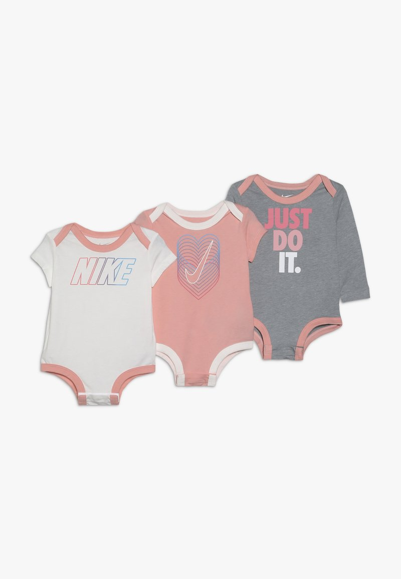 Nike Sportswear - GRAPHIC BODYSUIT BABY 3 PACK - Body - bleached coral