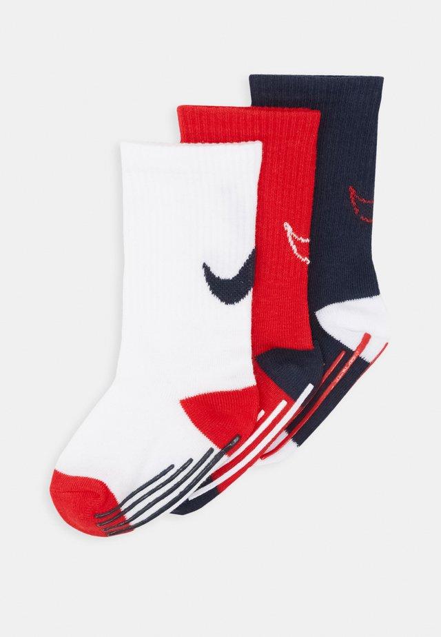 TRACK GRIPPER 3 PACK - Socks - university red