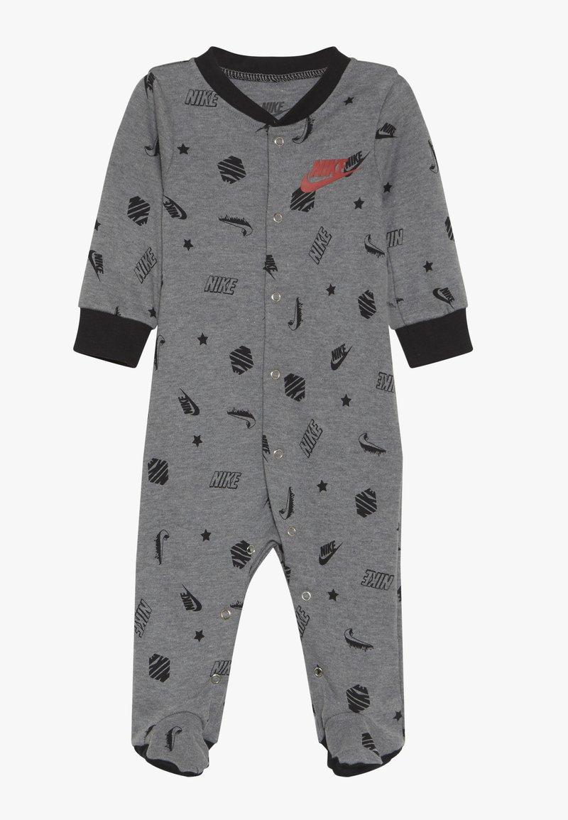 Nike Sportswear - LOGO MASHUP FOOTED COVERALL BABY - Pijama - dark grey heather