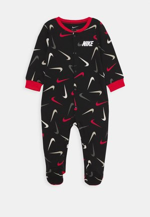 SWOOSHFETTI FOOTED COVERALL BABY - Pyjama - black