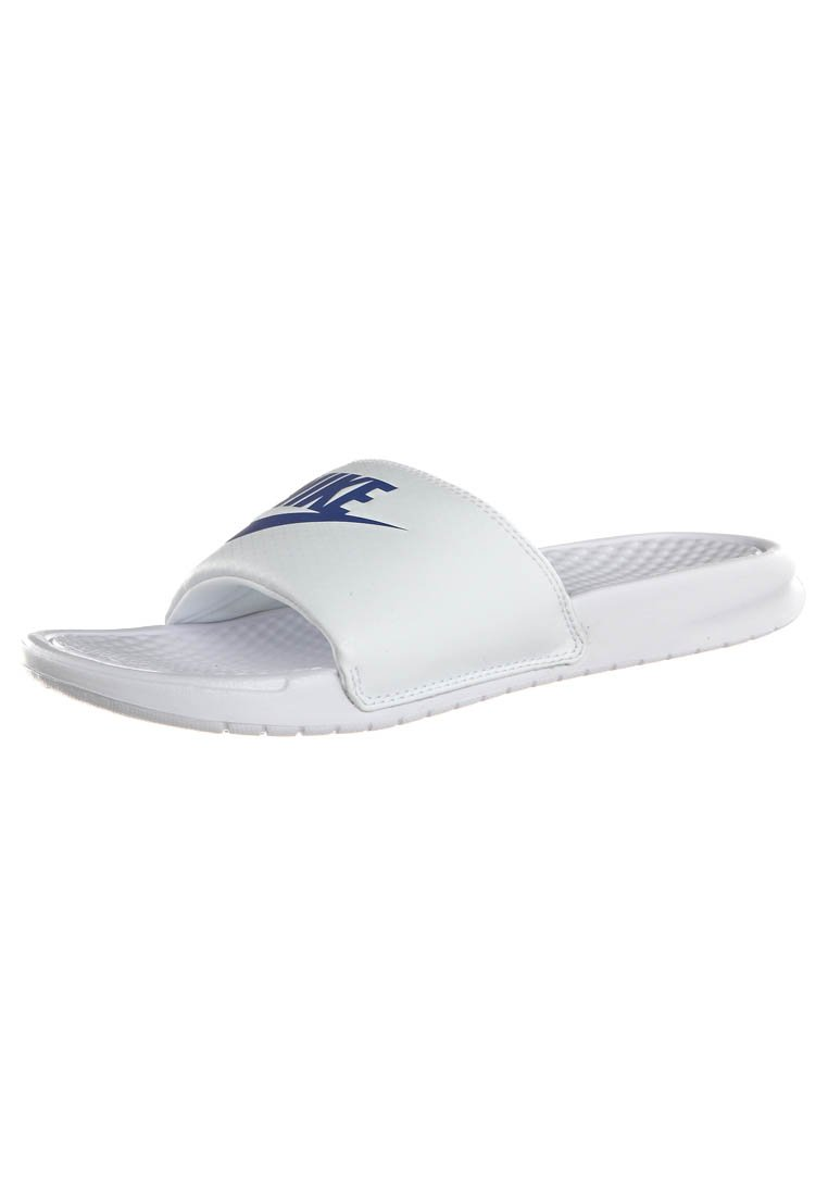 Nike Sportswear - BENASSI JDI - Mules - whire/varsity royal-white