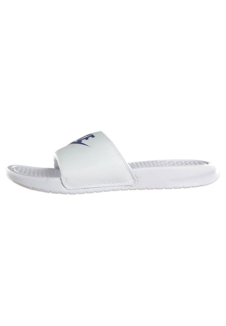 Nike Sportswear BENASSI JDI - Badesandaler - whire/varsity royal-white