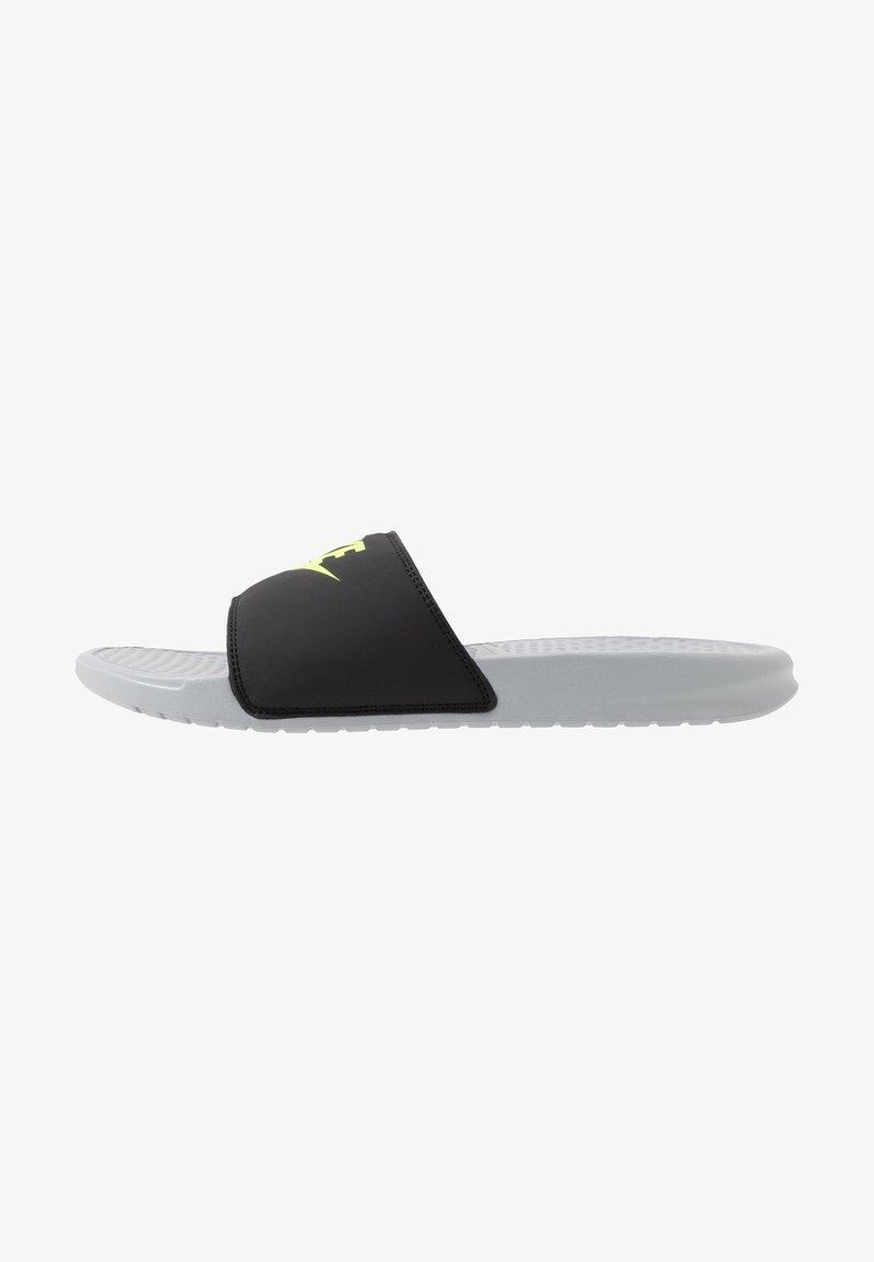 Nike Sportswear - BENASSI JDI - Sandały kąpielowe - wolf grey/volt/black