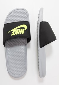 Nike Sportswear - BENASSI JDI - Sandały kąpielowe - wolf grey/volt/black - 1