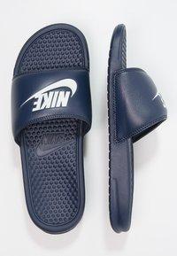 Nike Sportswear - BENASSI JDI - Sandály do bazénu - midnight navy/windchill - 1