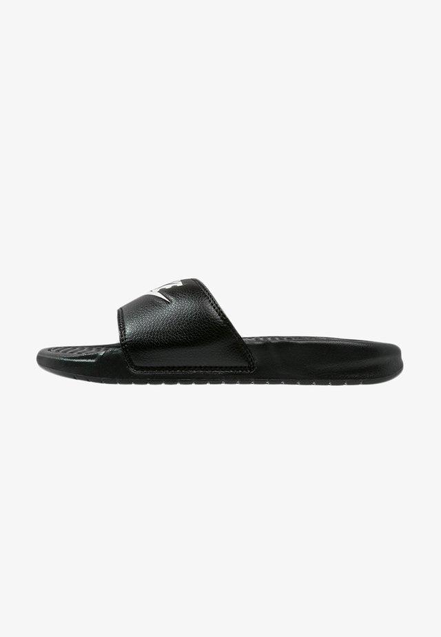 BENASSI JDI - Sandały kąpielowe - black/white