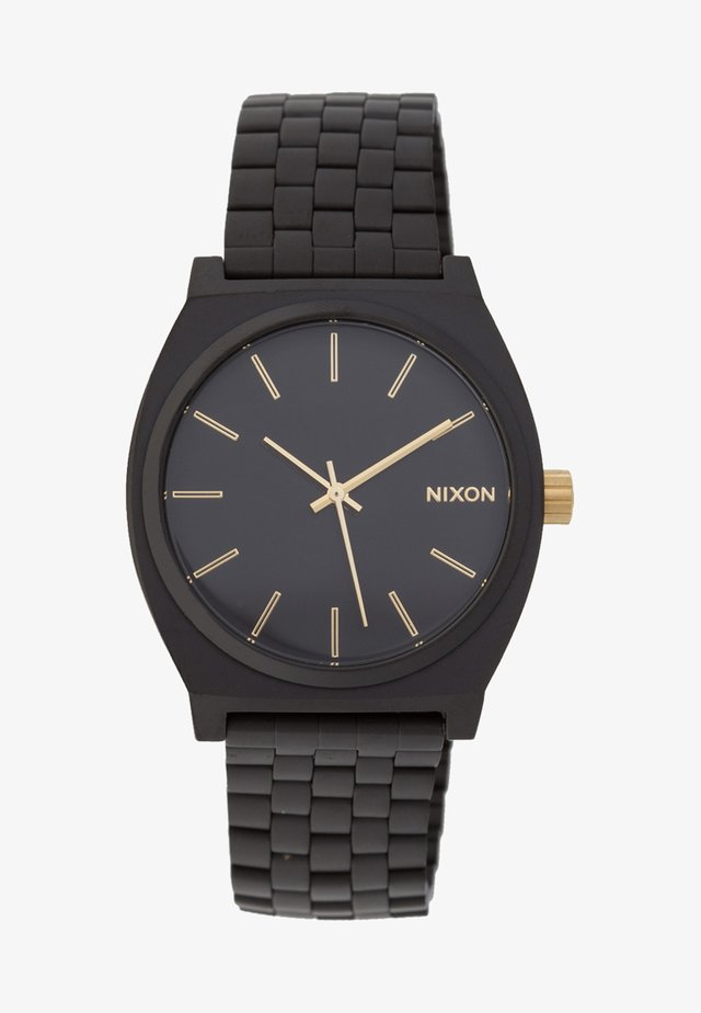 TIME TELLER - Orologio - matte black/gold-coloured