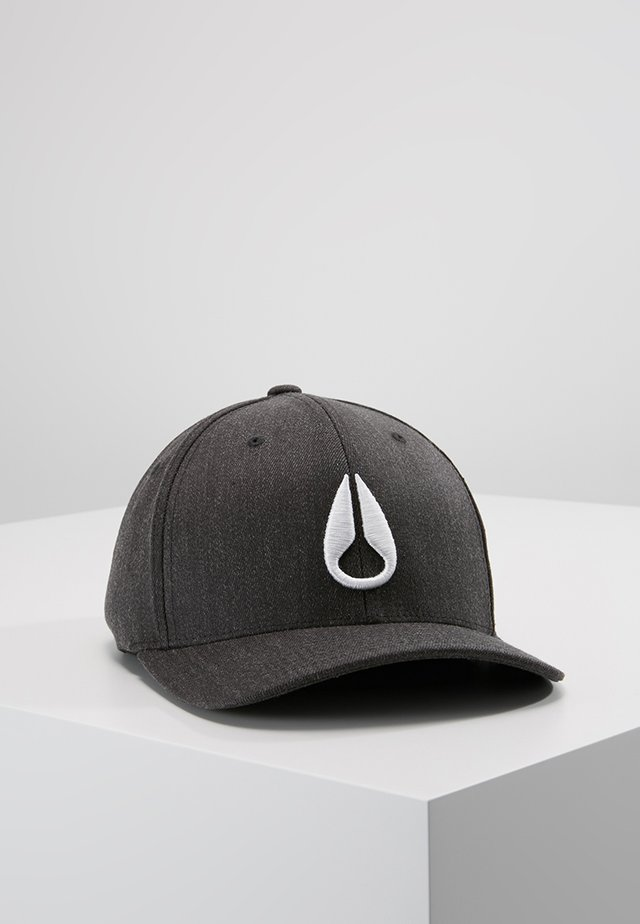 DEEP DOWN ATHLETIC FIT - Cap - black heather/white