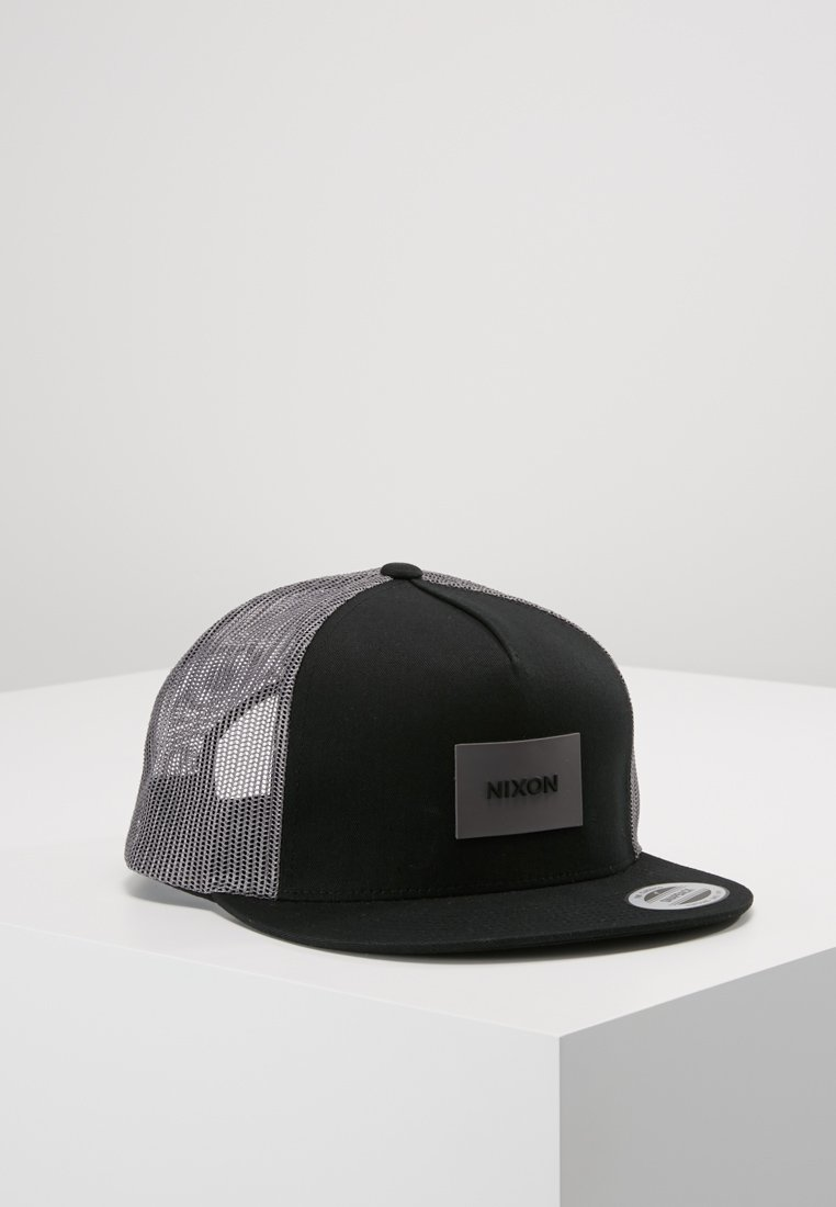 Nixon - TEAM TRUCKER HAT - Kšiltovka - black/charcoal