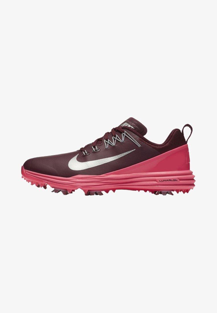 Nike Golf - LUNAR COMMAND - Golfschuh - bordeaux/pink/silver