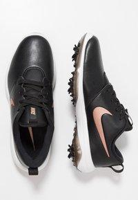 Nike Golf - ROSHE G TOUR - Scarpe da golf - black/metallic red bronze/summit white - 1