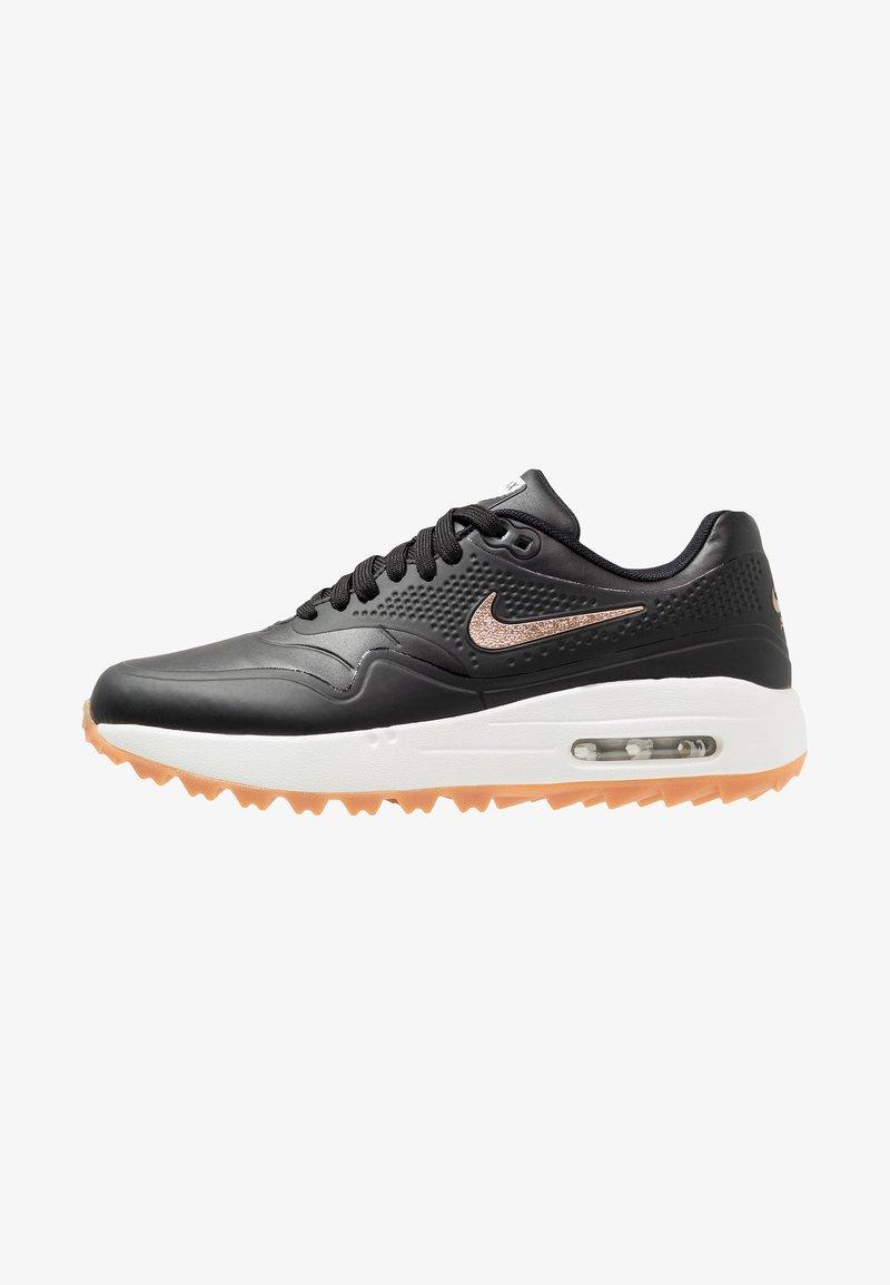 Nike Golf - AIR MAX 1 - Golfschuh - black/metallilc red bronze/summit white/medium brown