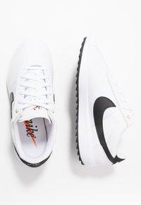 Nike Golf - CORTEZ - Scarpe da golf - white/black/metallic gold - 1