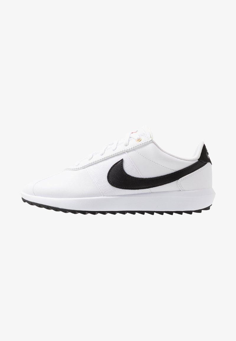Nike Golf - CORTEZ - Golf shoes - white/black/metallic gold