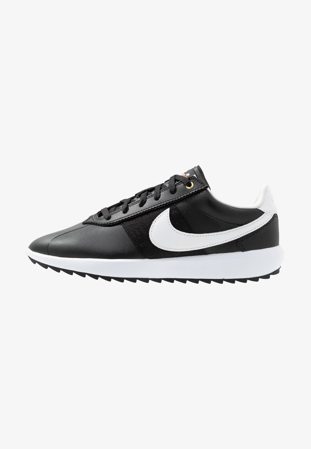 CORTEZ - Golf shoes - black/white/metallic gold