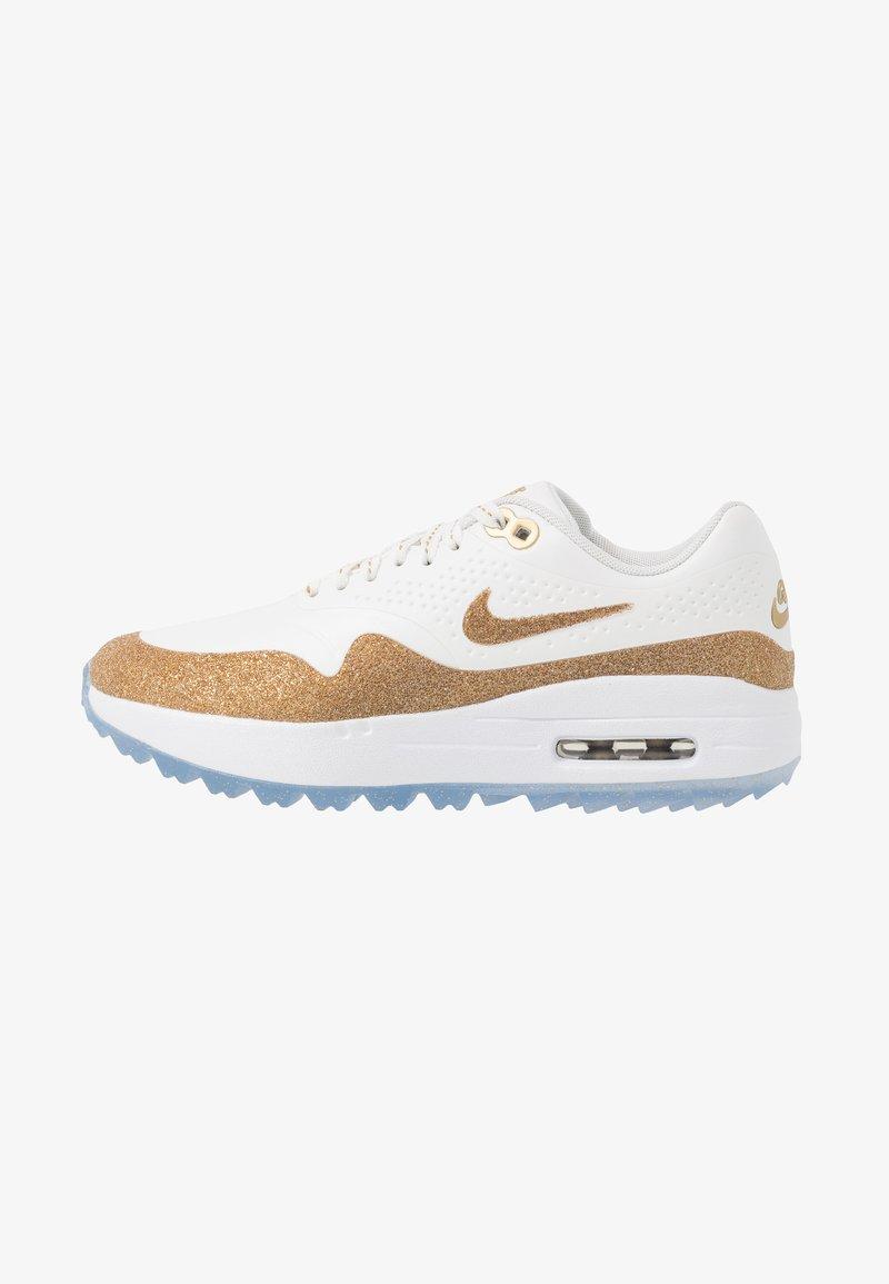 Nike Golf - AIR MAX 1 G NRG - Golfschuh - summit white/metallic gold/white