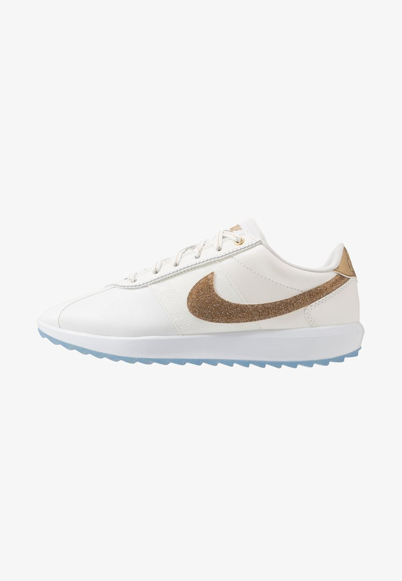 Nike Golf - CORTEZ G NRG - Golfschoenen - summit white/metallic gold/white