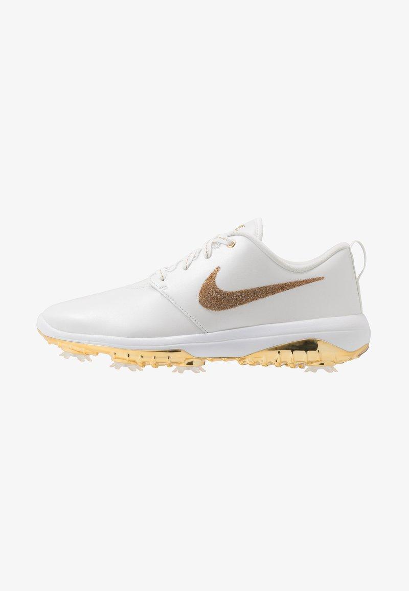 Nike Golf - NIKE ROSHE WITH SWAROVSKI® CRYSTALS DAMEN-GOLFSCHUH - Golfové boty - summit white/metallic gold/white