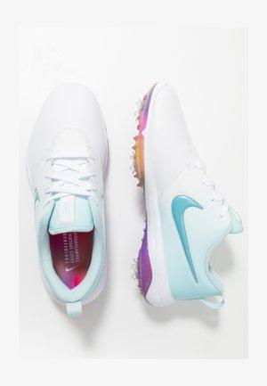 NIKE ROSHE WITH SWAROVSKI® CRYSTALS DAMEN-GOLFSCHUH - Golf shoes - white/topaz mist/blue gaze