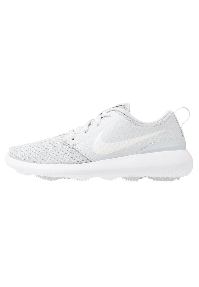 Nike Golf - ROSHE - Golfové boty - pure platinum/metallic white/white