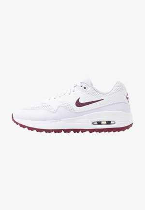 AIR MAX 1 G - Golfschuh - white/villain red/barely grape