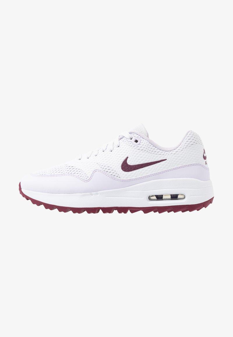 Nike Golf - AIR MAX 1 G - Golfsko - white/villain red/barely grape