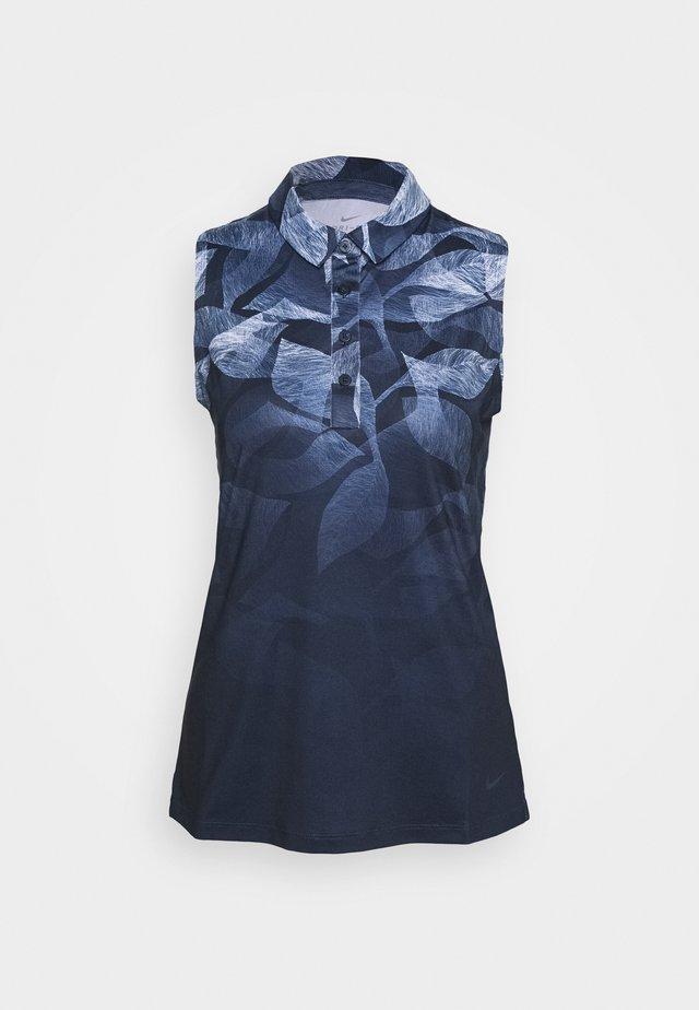 NIKE DRI-FIT ARMELLOSES GOLF-POLOSHIRT MIT PRINT FUR DAMEN - Sports shirt - obsidian