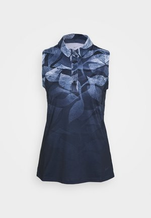 NIKE DRI-FIT ARMELLOSES GOLF-POLOSHIRT MIT PRINT FUR DAMEN - T-shirt sportiva - obsidian