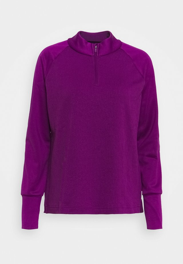 THERMA LONG SLEEVE ZIP - Pitkähihainen paita - bright grape/bright grape