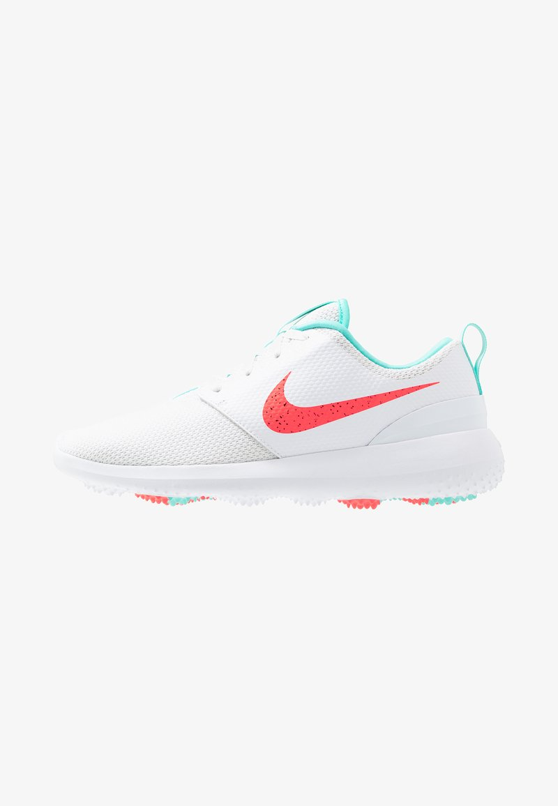 Nike Golf - ROSHE - Golfsko - white/hot punch/aurora green