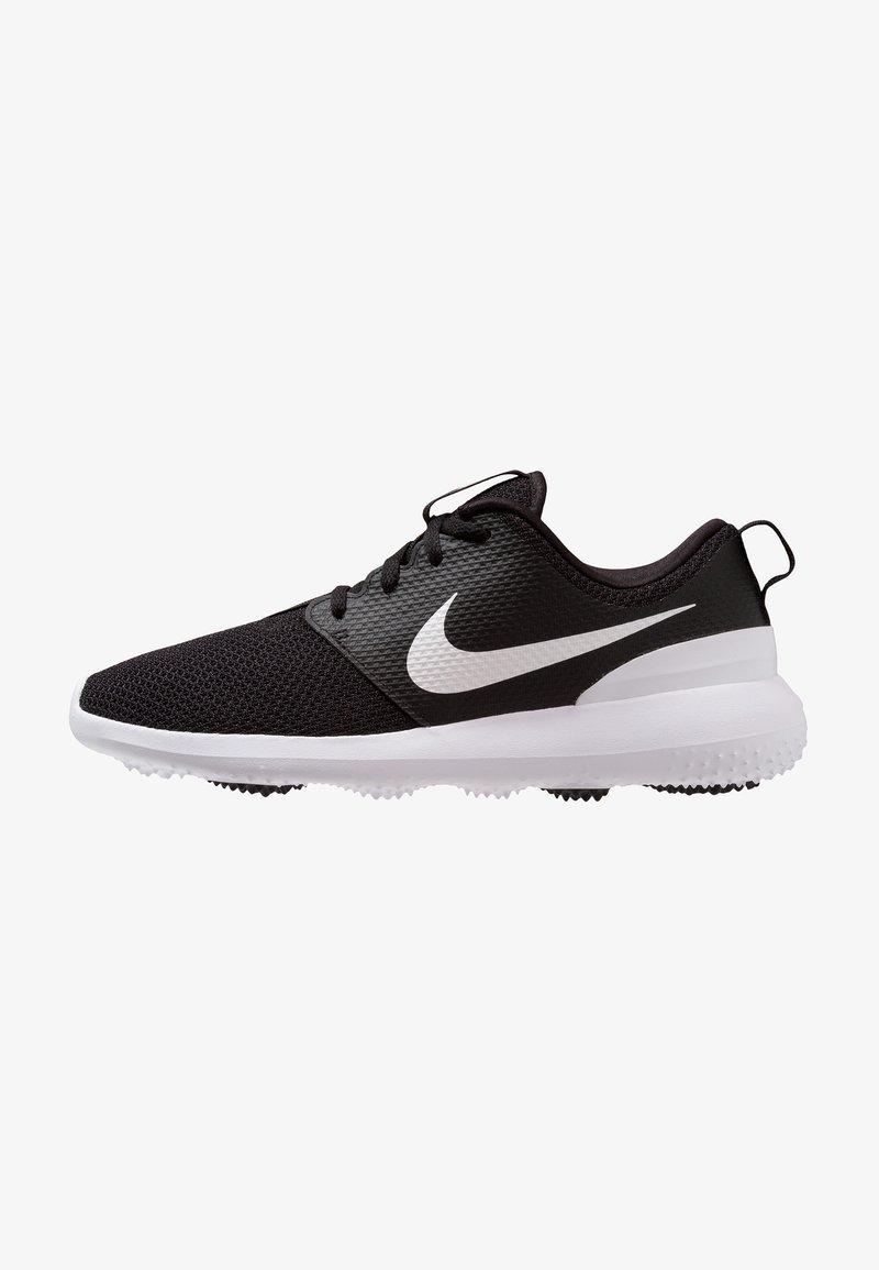Nike Golf - ROSHE - Golfskor - black/white